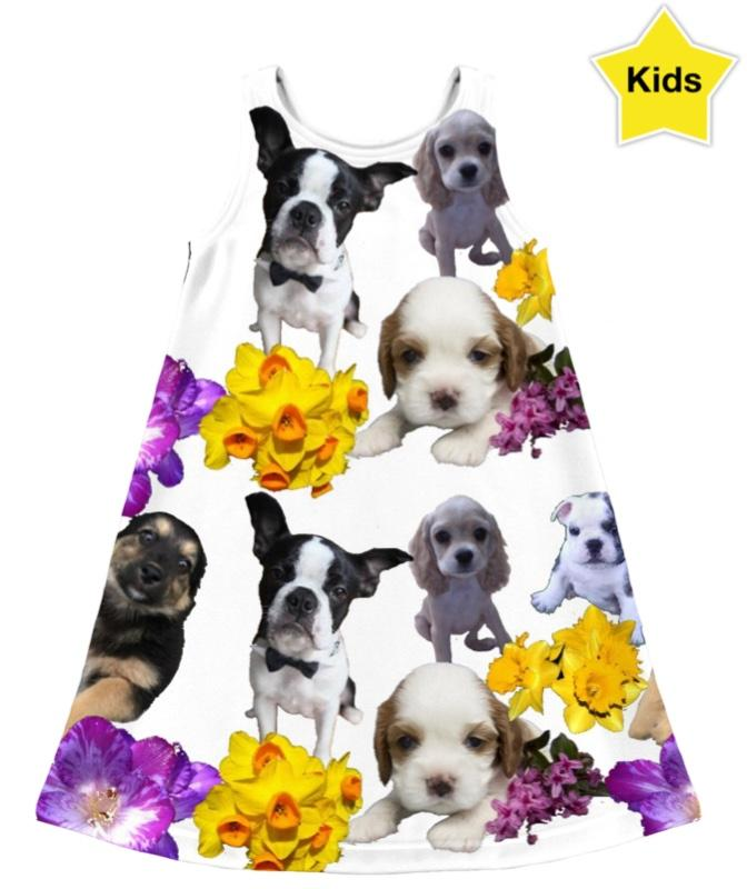 Puppies Daydream Kids Dress