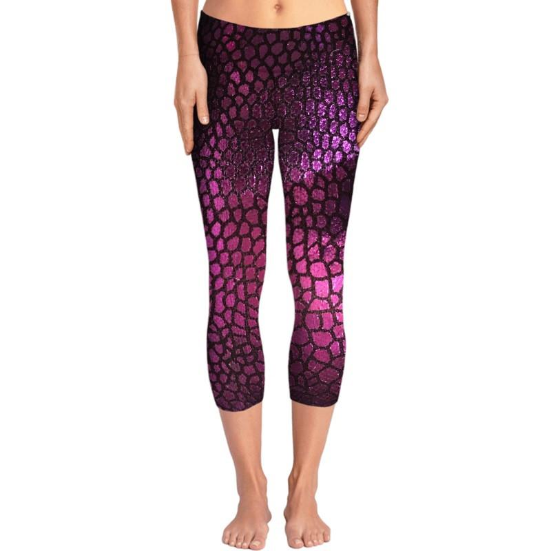 Purple Scales Yoga Pants