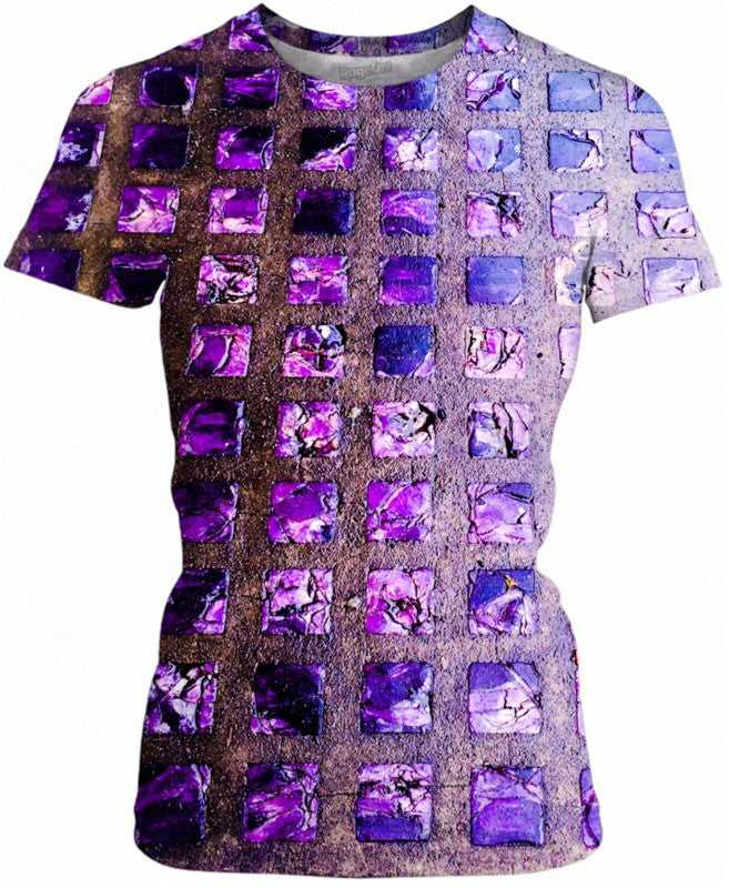 Amethyst Sidewalk Ladies Tee