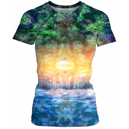 Rainforest Waterfall Ladies Tee
