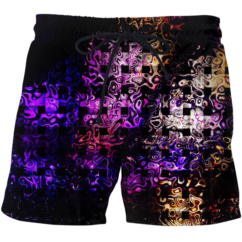 Bubble CrossStitch Swim Shorts