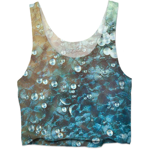 Aqua Bubbles Crop Top