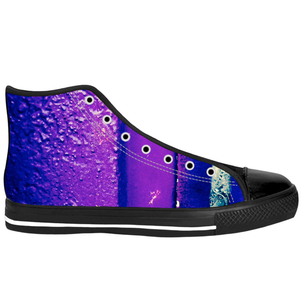 Purple Wet Paint High Tops