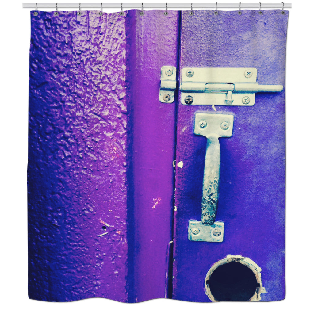 Padlocked Shower Curtain