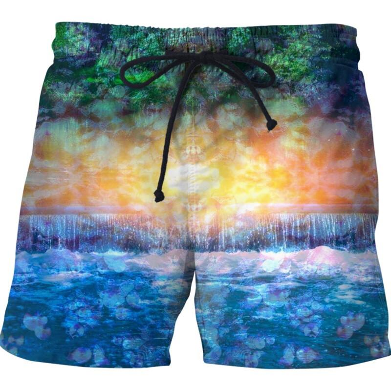 Rainforest Waterfall Swim Shorts