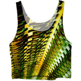 Green Gold Metal Crop Top