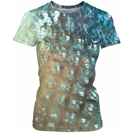 Aqua Bubbles Ladies Tee