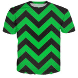 Green Screen Chevron Tee