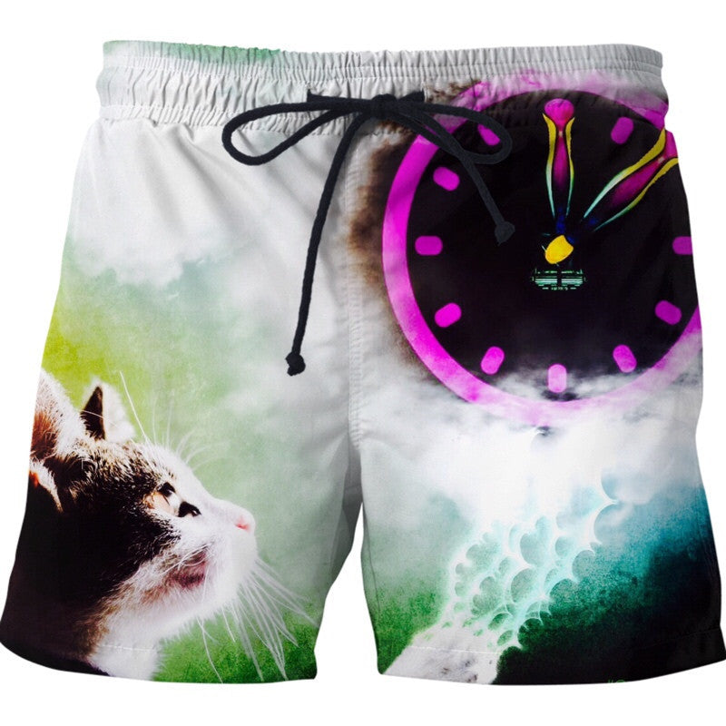 Time the Cat Swim Shorts