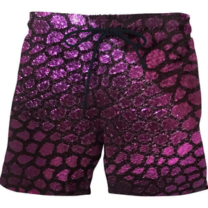 Purple Scales Swim Shorts