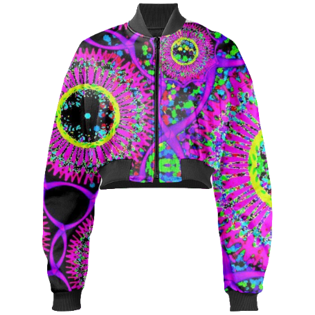 Blacklight Daydream Gabriel Held Cropped Bomber Jacket