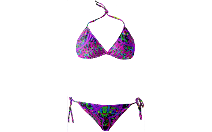 Blacklight Daydream Bikini Swimsuit