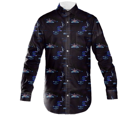 Guitar Ship Men's Dress Shirt