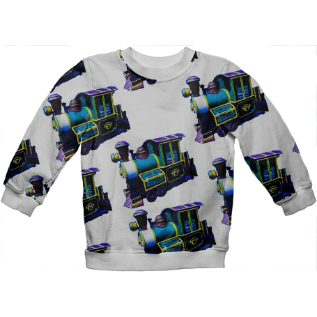 Blue Trains Kids Sweatshirt