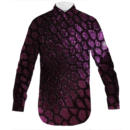 Purple Scales Men's Dress Shirt