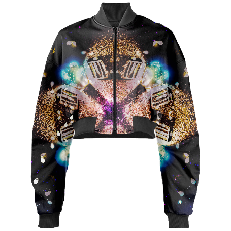 Alien X Cropped Bomber Jacket