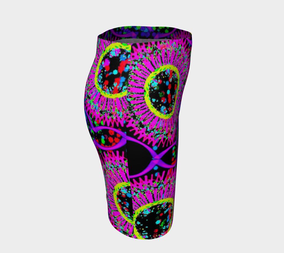 Blacklight Daydream Fitted Skirt