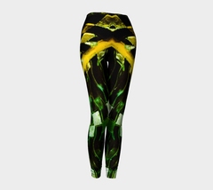 Green Gold Metal Leggings
