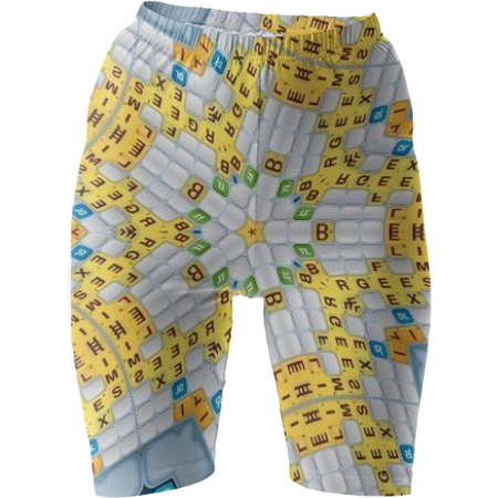 Scrabbled Bike Shorts