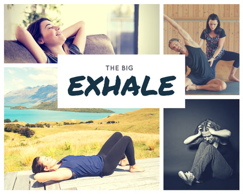 Learn to breathe and reduce stress with The Big Exhale online Breathing course, your physiotherapy home program