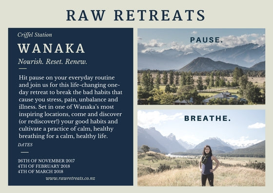 Raw Retreats Wanaka, New Zealand one day for women to reduce stress and find calm