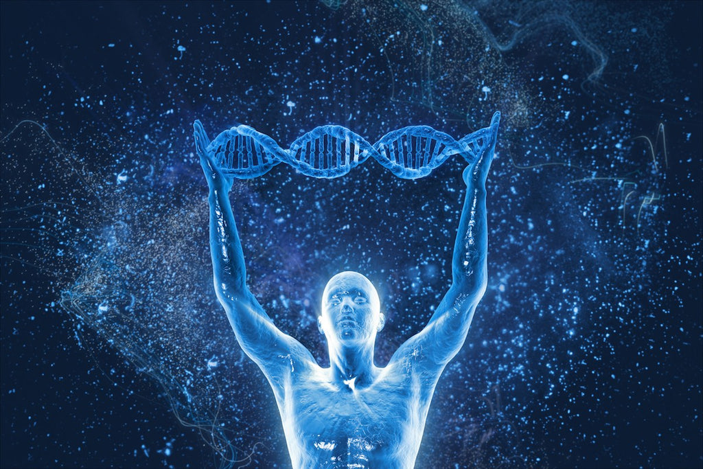 dna genes positive thinking man
