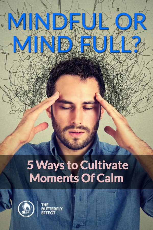 Mindful or mind full - how to find moments of calm in the day