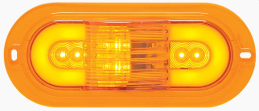 "Optronics STL175AMFB GloLight 6"" Amber Oval Sealed LED Mid-Ship Turn Signal"