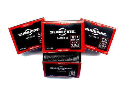Surefire CR123 batteries