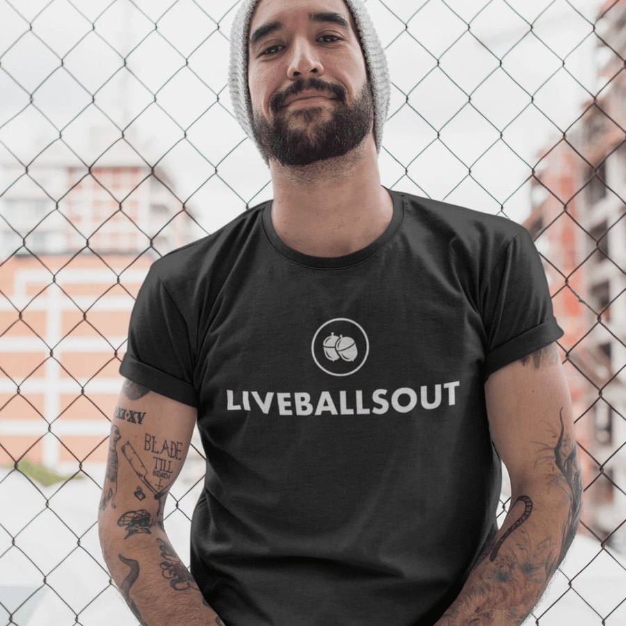 Live Balls Out Nuts Logo T Shirt