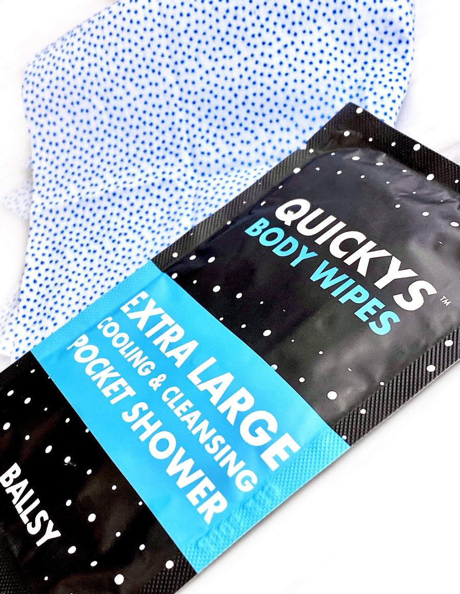 Quickys Ball & Body Wipes Promo