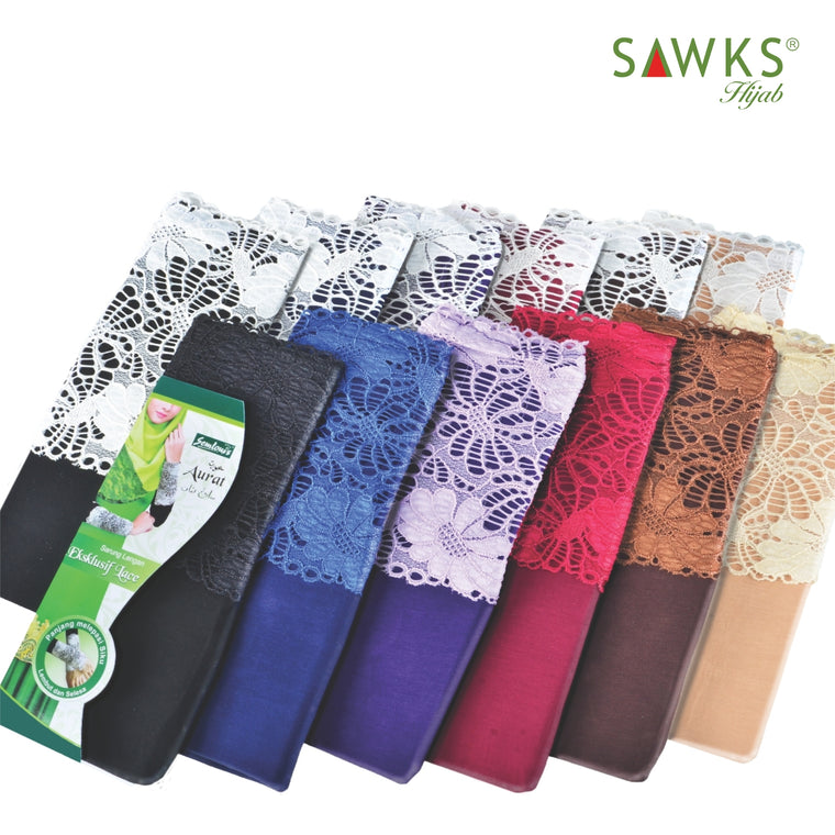 Sarung Lengan Cotton Spandex with Lace