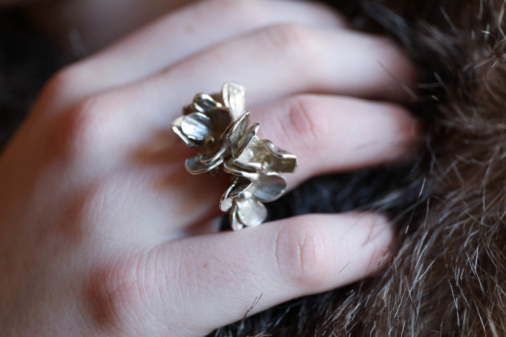 Forest Floor Pansy Ring