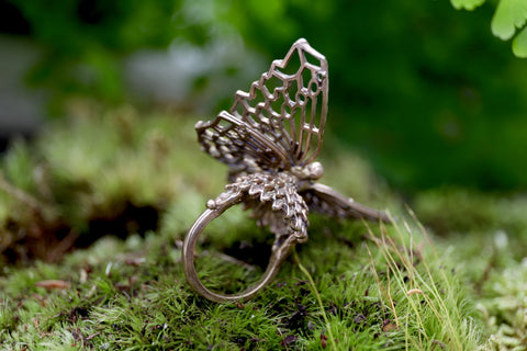 Filagree Butterfly Ring