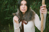 Faux Fur Shawl Collar