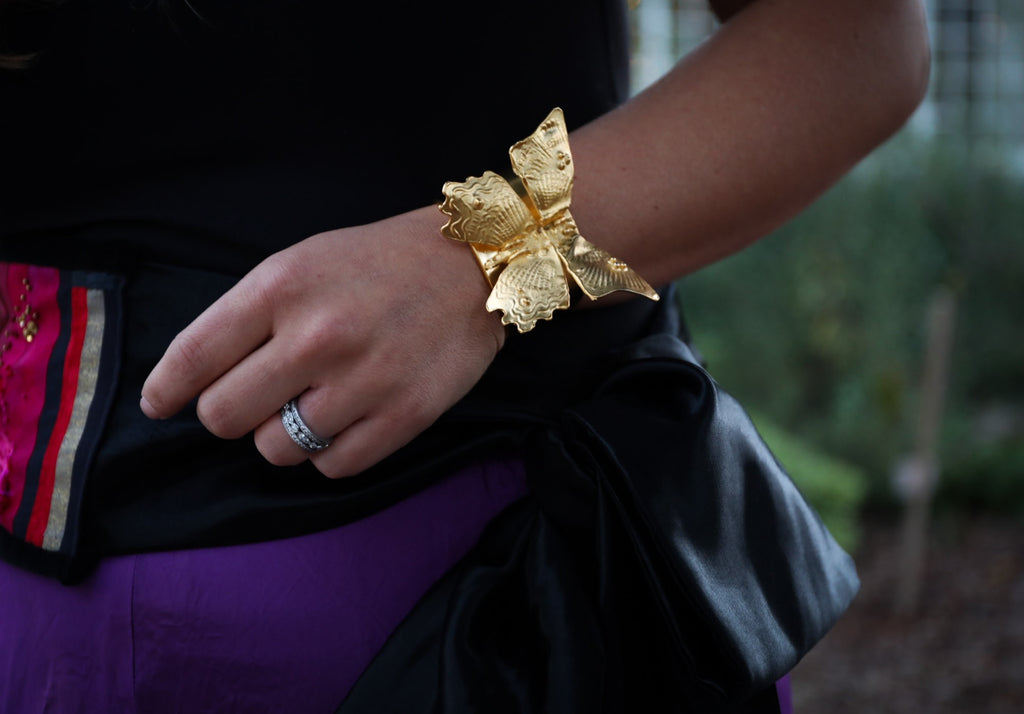 Imperial Gold Butterfly Cuff