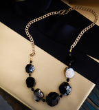 Faceted Black Nugget Necklace