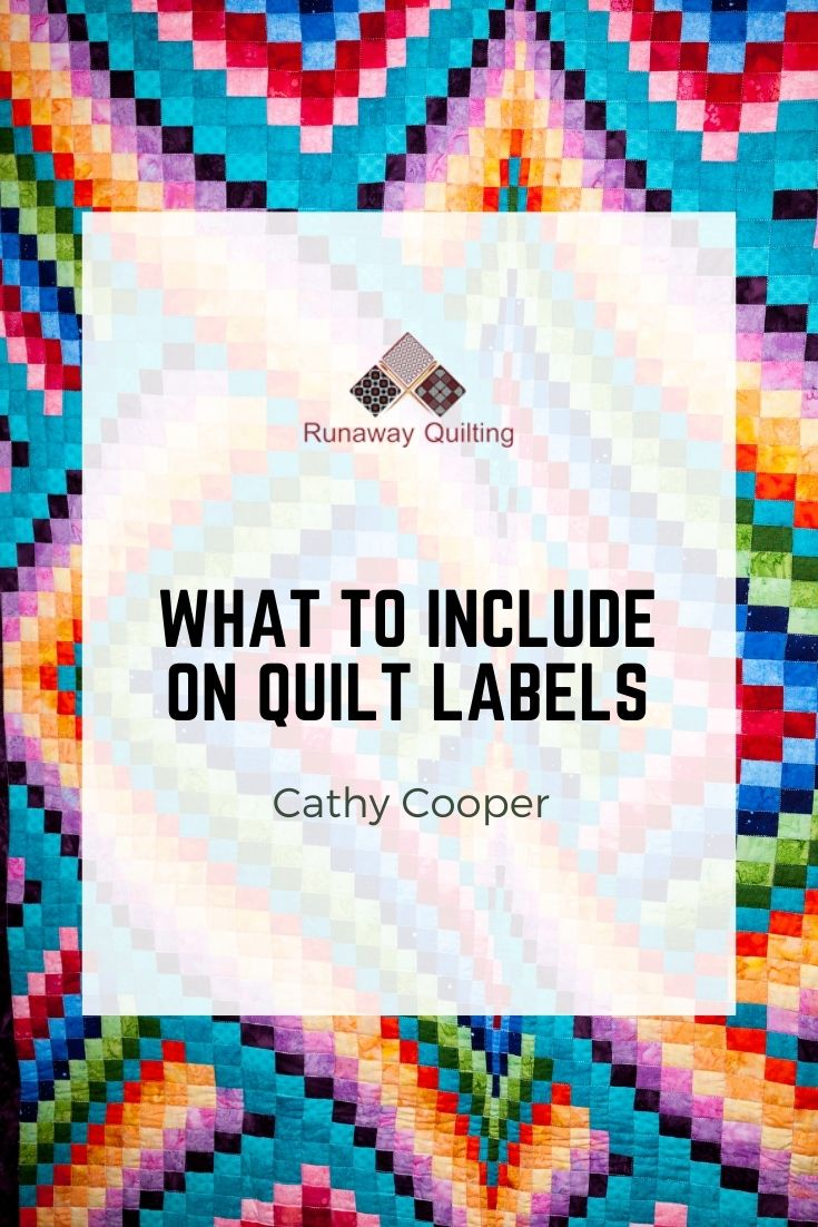 What to Include on Quilt Labels