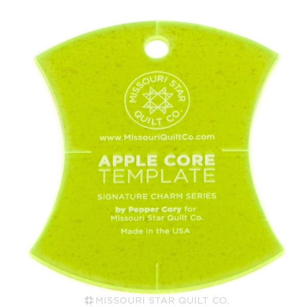 Apple Core Charm Template 4 1/2