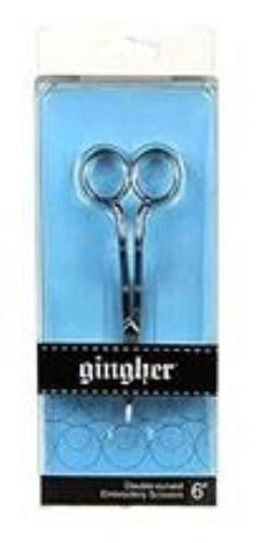 "Gingher 6"" Double-Curved Embroidery Scissors"