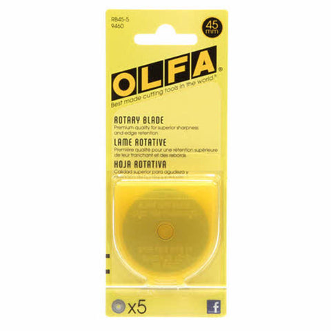 45mm Olfa Replacement Blades (5 Pack)