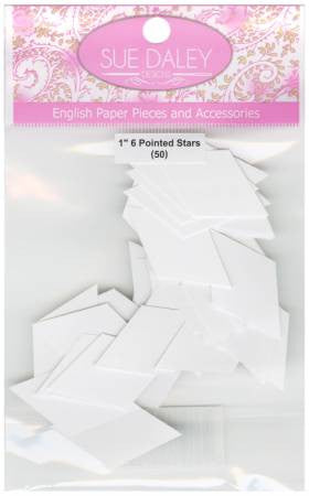 "1"" 6 Pointed Star English Paper Piecing"