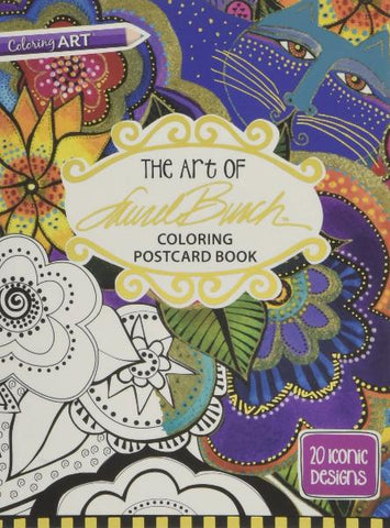 The Art Of Laurel Burch Colouring Postcard Book