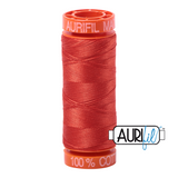 Aurifil #2245 Red Orange -220yds