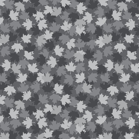 Canadian Christmas- Maple Leaf Grey