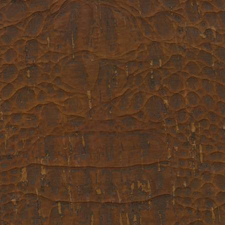 "Cork Fabric - Crocodile Reddish Brown 55"" Wide"
