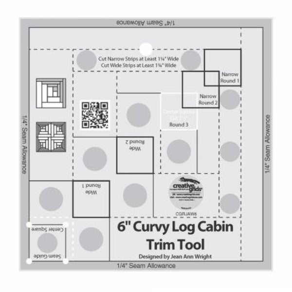 Creative Grids Curvy Log Cabin 6in