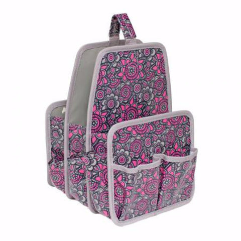 Makers Large Caddy Grey/Pink Flower