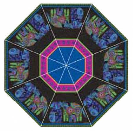 Laurel Burch Dog & Doggies Stick Umbrella