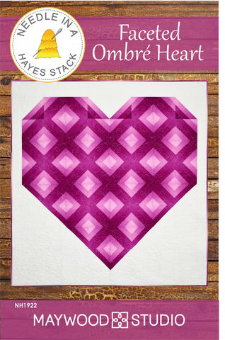 Faceted Ombre Heart Quilt Pattern